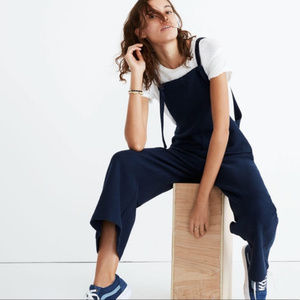 Madewell Tie Front Overalls Navy Blue XS